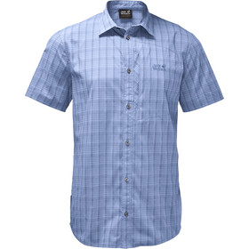 Jack Wolfskin Rays Stretch Vent Shirt Herren shirt blue checks
